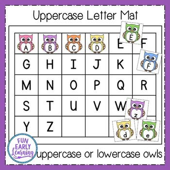 Owl Letter Matching - Hands-on Literacy Center Activity