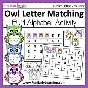 Owl Letter Matching - Hands-on Activity {Common Core}