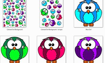 Owl Letter and Clipart package