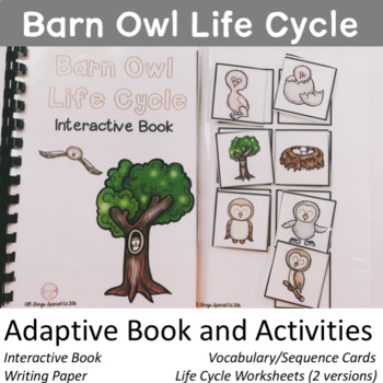 Owl Life Cycle adapted book and activities