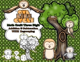 Owl Life Cycle Three Digit Addition & Subtraction Math CRAFT