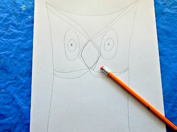 Owl Line Drawing Lesson Sub Lesson Easy Prep Zentangle Inspired for Beginner