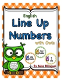Owl Line Up Numbers Circles with Words for Classroom Floor
