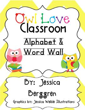 Owl Love Classroom Alphabet & Word Wall
