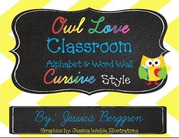 Owl Love Cursive Style {Landscape}