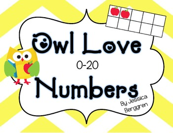 Owl Love Number Cards 0-20