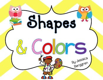 Owl Love Shape and Color Posters