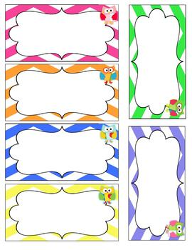Owl Love Word Wall Cards {Editable} White Background