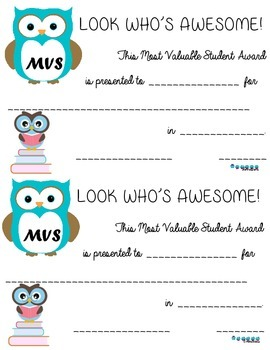 Owl MVS Award