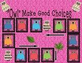 Owl Make Good Choices Board Game--Reinforce Positive Behav