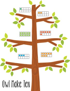 Math Strategy Games to Make Ten - K-2 Math Centers