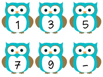 Owl Manipulative Cards