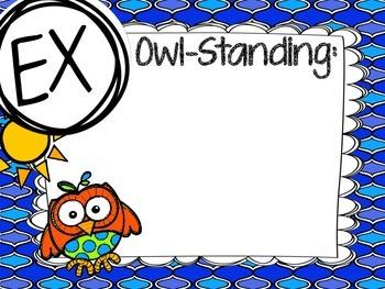 Owl Marzano Learning Scale w/ letters