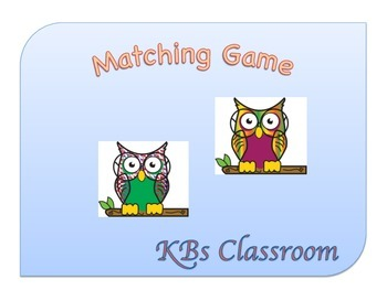 Owl Matching Game