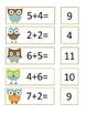 Owl Math Fact Match Pocket Chart Activity