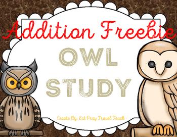 Owl Math Freebie