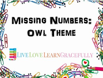 Owl Math Fun: Missing Numbers, Sequencing, and More up to 20