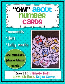 """""""Owl"""" About Numbers 1-10 Cards (Dots, Numerals & Tally Marks) Math Common Core"""