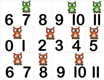 Owl Math Sorting Activity