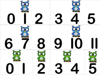 Owl Math Sorting Activity