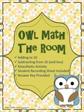 Owl Math The Room - Adding and Subtracting to 10 - Kinesth