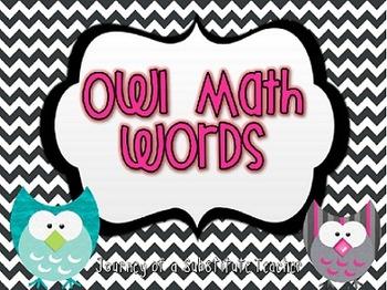 Owl Math Words