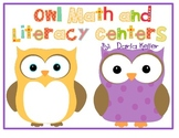 Owl Math and Literacy Centers