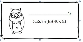 Owl Math and Writing Journal Labels