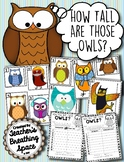 Owl Measuring Math Game --- How Tall Are Those Owls? Fall Math Center