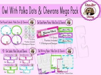 Owl Mega Pack: 13 Products (Polka Dots and Chevrons)
