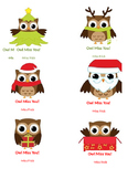 Owl Miss You Christmas Tags