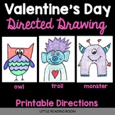 Valentine's Day - Owl, Monster, Troll Directed Drawing