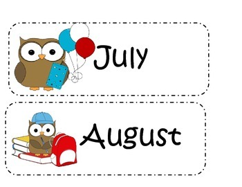 Owl Month and Season Cards