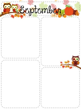 Owl Monthly Newsletter Templates