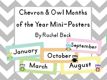 Owl Months of the Year Mini-Posters