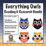 Owl Moon Activities + Owl Webquest + Reading Research Project Bundle