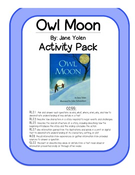 Owl Moon Activity Pack