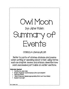 Owl Moon Event Summary Organizer