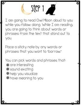 Owl Moon: Found Poetry