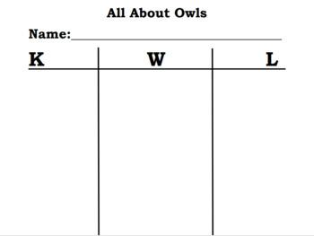 Owl Moon Graphic Organizer