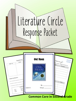 Owl Moon Literature Circle Response Packet- Book Club- Novel Study