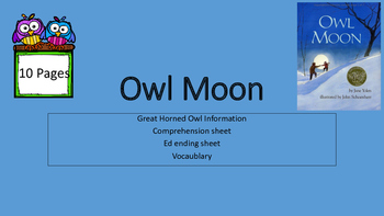 Owl Moon Picture Book