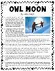 Owl Moon Sensory Words & Summarizing - VA English SOL 4.5g 4.6d