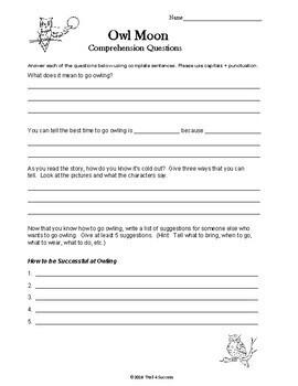 owl moon worksheets for first grade owl best free printable worksheets. Black Bedroom Furniture Sets. Home Design Ideas