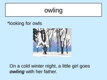 Owl Moon Vocabulary Houghton Mifflin Series