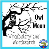 Owl Moon Vocabulary and Word Search