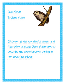 Owl Moon Figurative Language