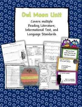 Owl Moon fiction and nonfiction UNIT