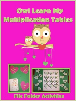 Owl Learn My Multiplication Facts File Folders