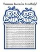 Owl Multiplication Table 12x12